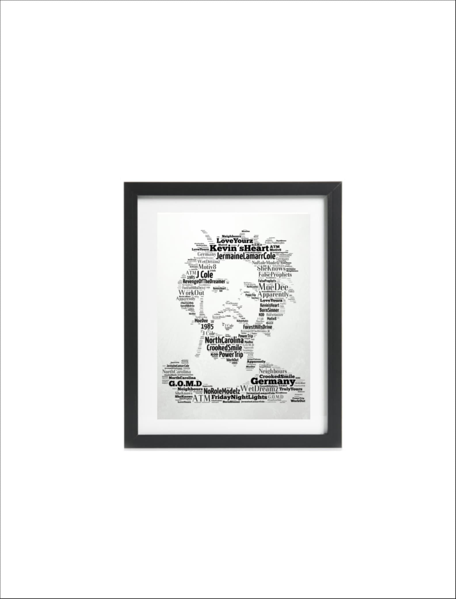 36d5c241b0c J Cole - Hip Hop - Music Icon/Legend Songs - Word Art Unique  Keepsake/Collectible/Memorabilia/Gift - FREE-POST UK - Fast dispatch