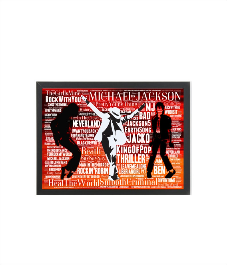 michael Jackson quality glossy photo print A4 or A5