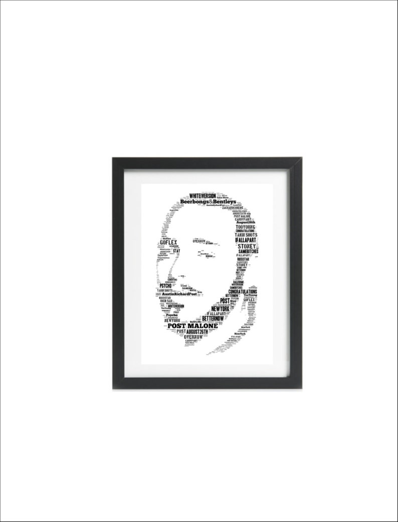 POST MALONE Poster MULTIPLE SIZES Hip Hop Rap Recording Artist Music F