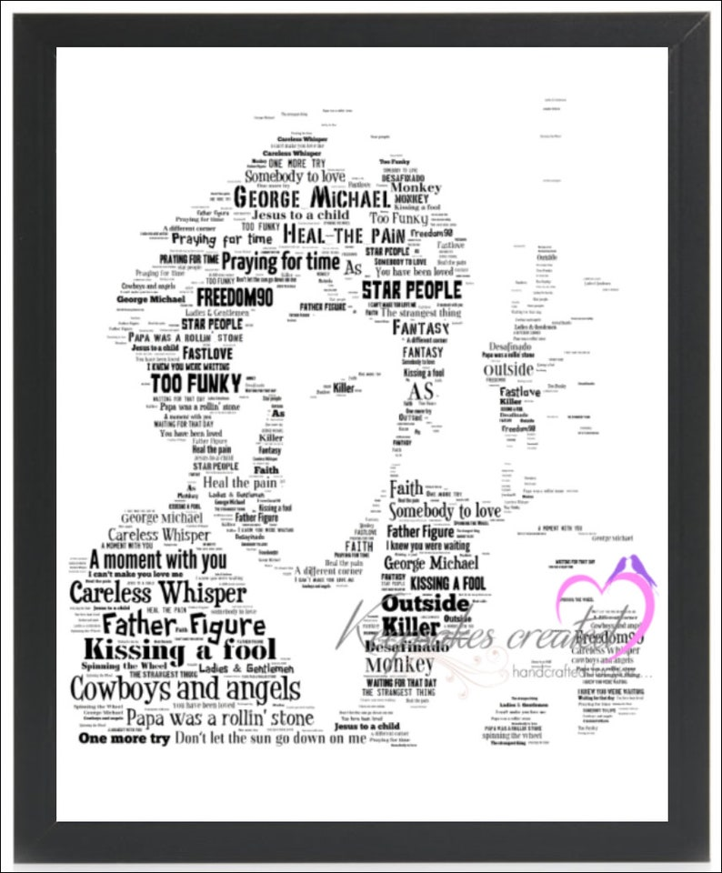 George Michael Poster Music Icon Faith Freedom Outside FREE P+P CHOOSE YOUR SIZE