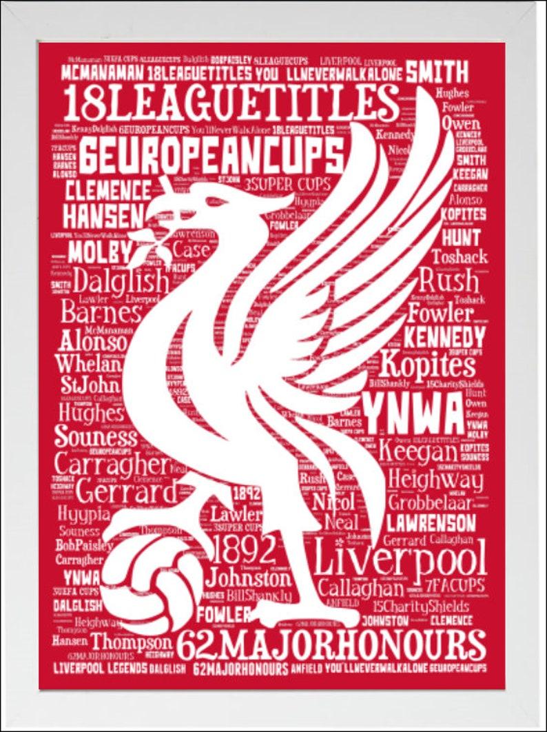 Lot de 6 Liverpool Liverbird Acrylique Décorations de Noël