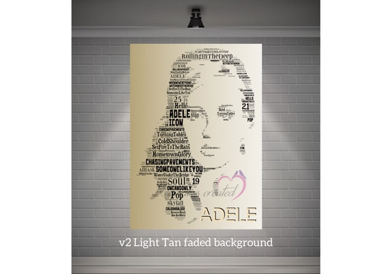 CHOOSE YOUR SIZE Adele Poster Lyrics Someone Like You 25 Large Quality FREE P+P