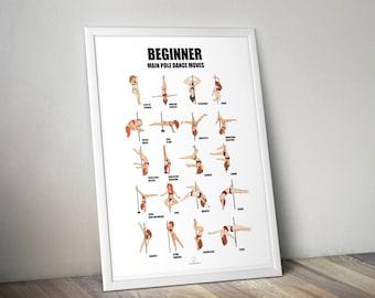 pole dance poster Beginner level