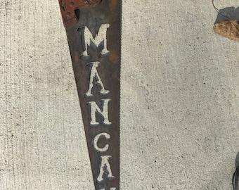 Plasma cut handsaw Man Cave