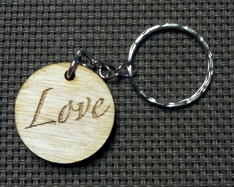 round key holder with LOVE inscription image 0