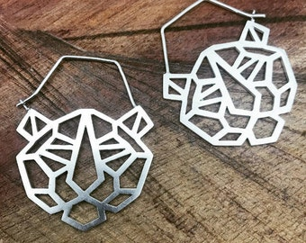 Geo Tiger earrings. Animal earrings. Geometric jewellery