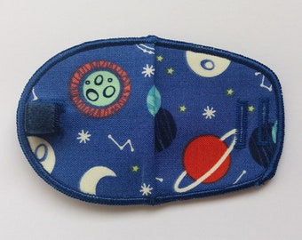 Planets reusable & reversible cloth eye patch for kids with amblyopia, glasses, squint, occlusion therapy