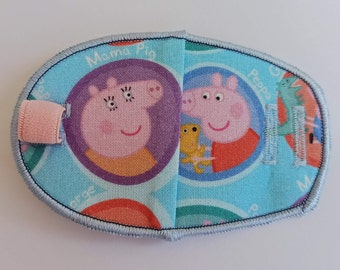Peppa Pig reusable cotton children's eye patch for lazy eye treatment, squint, glasses, amblyopia, occlusion therapy