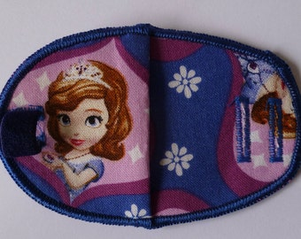 Princess Sofia Disney reusable, reversible orthoptic fabric eye patch for kids with lazy eye, squint, amblyopia, glasses