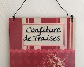 1x suspendu en bois décoration shabby chic ange coeur arbre cadeau vintage decor