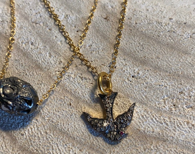 """Necklace collection """"Diamond"""" model """"Birdy"""""""