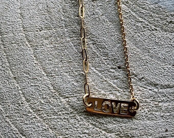 """Love bar"" necklace"