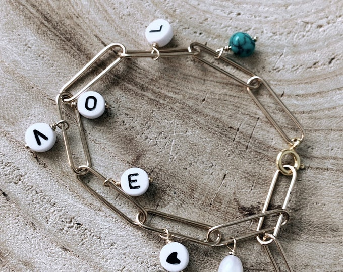 """Word bells"" bracelet"