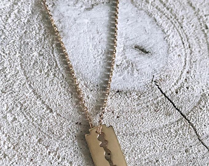 """Blade"" necklace"