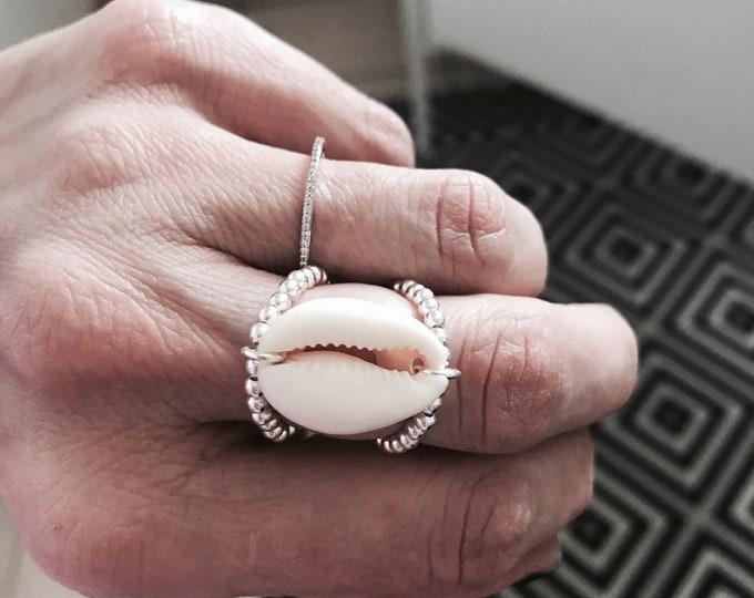 "Silver ring ""Navy"""