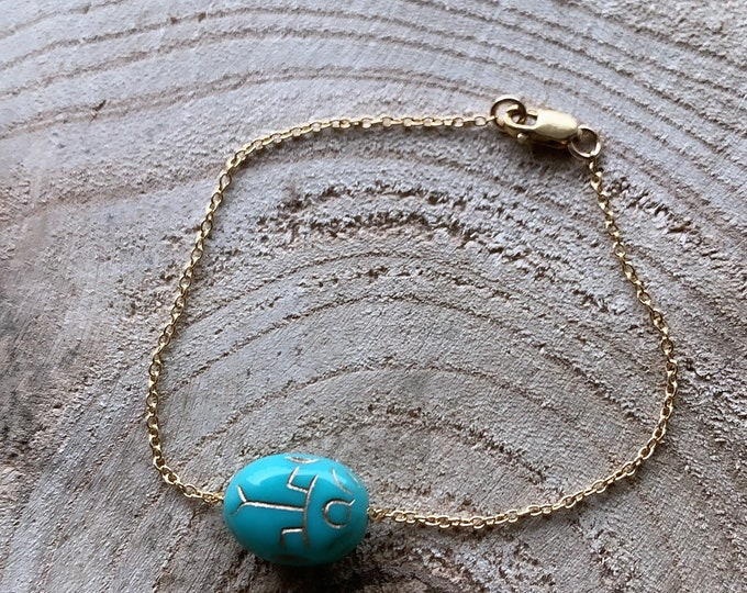 """Little B blue"" bracelet"