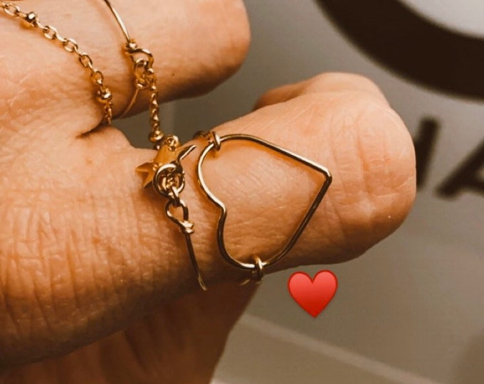 """""""Kindness"""" heart ring"""
