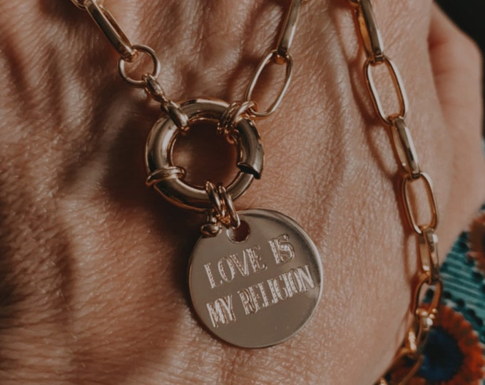"""Pre-order Collier """"Love is my religion"""""""