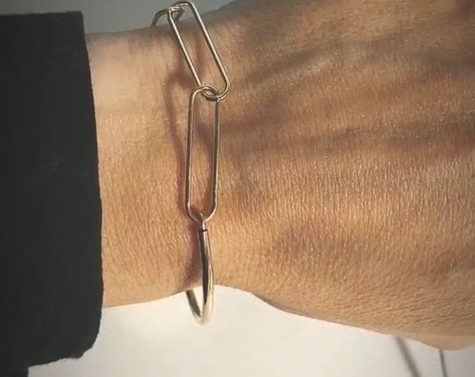 """""""Half"""" big link bracelet"""""""