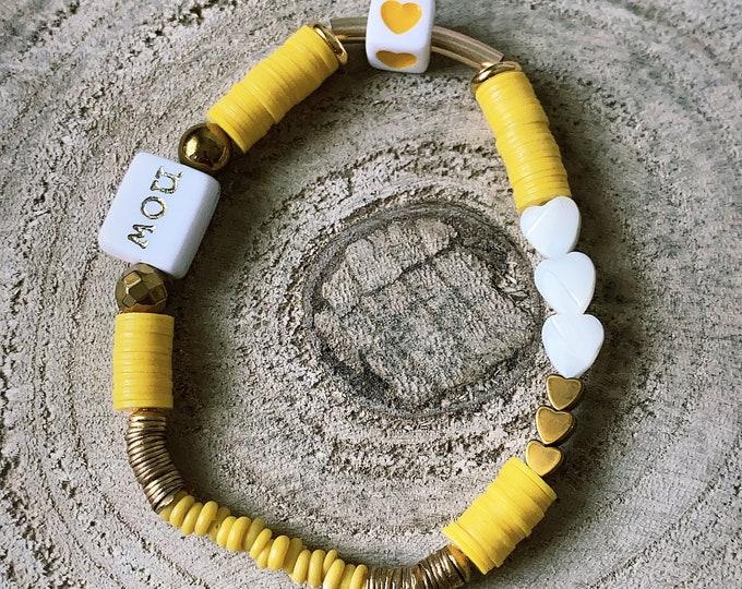 "Bracelets ""Heishi-word"" gold"