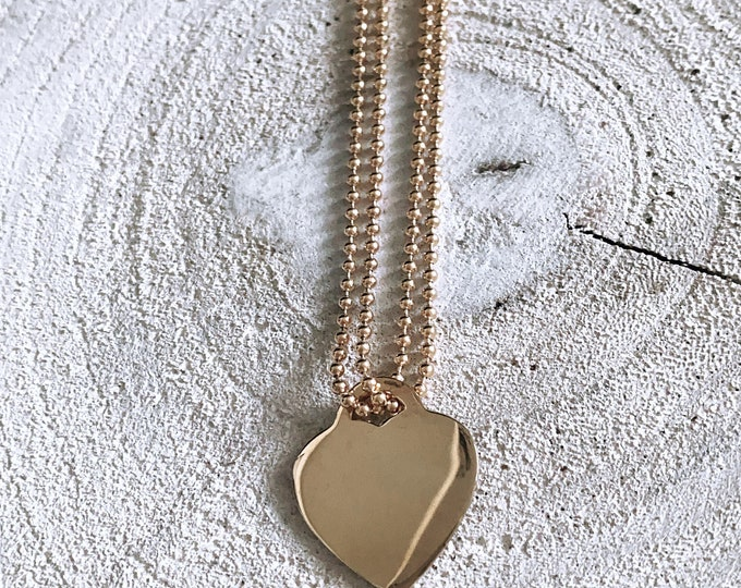 """Brave heart"" necklace"