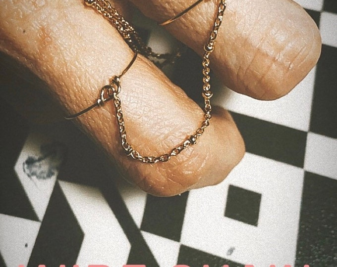 """Double ring """"Wire chain"""""""