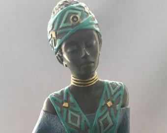 Enesco Mahogany Princess Sharing The Kingdom Figurine.