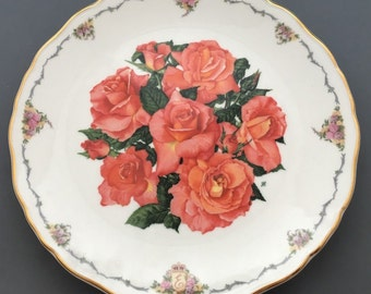 Royal Albert Elizabeth of Glamis From The Queen Mother's Favourite Flowers Collectors Plate By Sara Anne Schofield