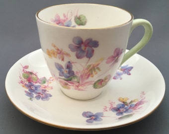 Royal Doulton Viola Coffee Cup and Saucer.