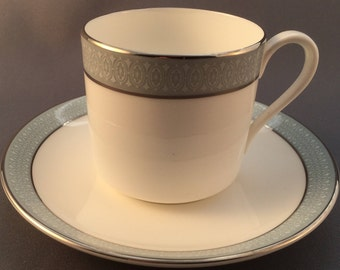 Royal Doulton Etude Cpffee Cup and Saucer