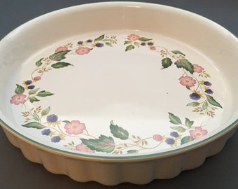 Bhs Victorian Rose Large Round Flan Dish
