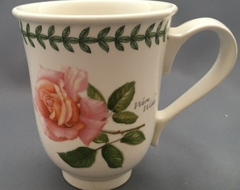 Portmeirion Botanic Roses Warm Wishes Mug Dated 2004.