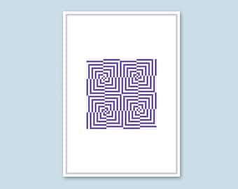 Geometric print // Contemporary art, home, business and office decor, modern design.