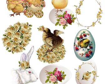 "Grosgrain Ribbon Easter Holiday Baby Chicks Eggs Daisy Flowers Chevron 7//8/"""