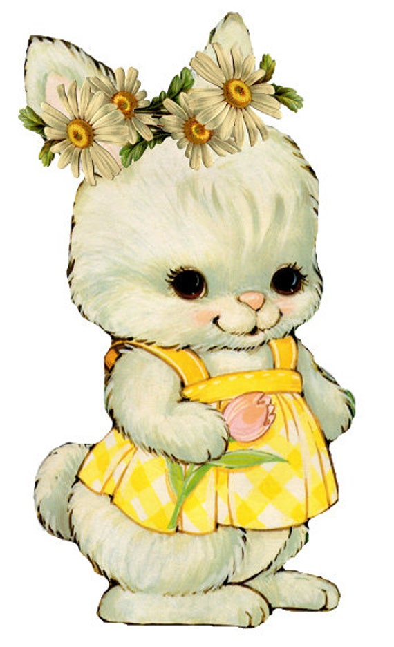 Bunny Clipart Easter Clipart Vintage Easter Clipart Bunny ...