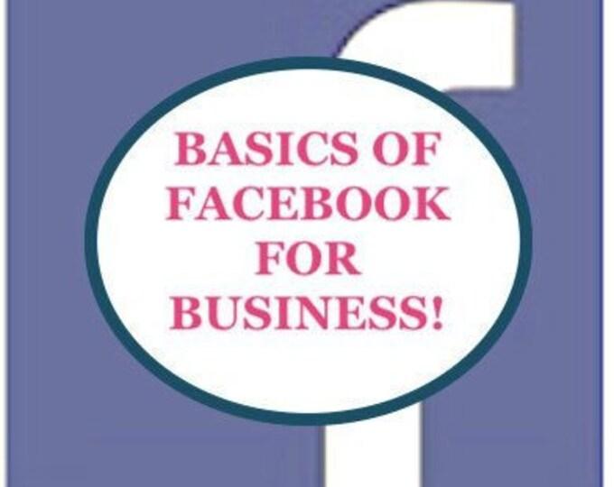Featured listing image: CLASS BASICS FOR Facebook business - social media- beginners -online entrepreneurs  - business -  facebook strategies- video -basics