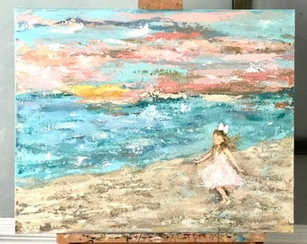 Custom Canvas Painting - Painting From Photo - Painting of Daughter or Granddaughter -textured canvas - Personalized Gift for Mom or Grandma