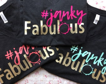 Soft, charcoal gray #jankyfabulous Tshirts by She Paints! womens clothing - Tees - feminine fitted - apparel - creative clothing
