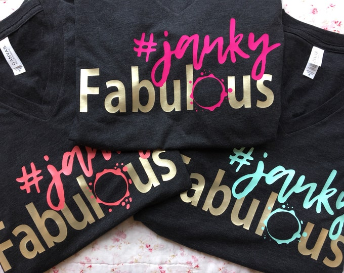 Featured listing image: Soft, charcoal gray #jankyfabulous Tshirts by She Paints! womens clothing - Tees - feminine fitted - apparel - creative clothing