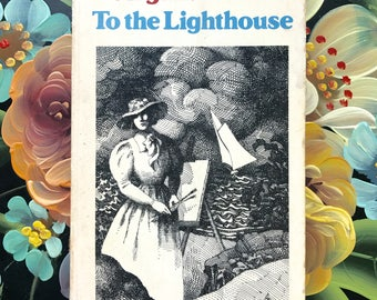 Vintage Paperback Novel, To the Lighthouse by Virginia Woolf
