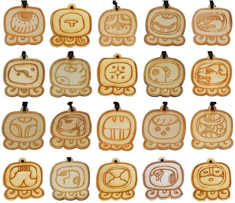 Calendario Maya Gravidanza.Scegli Il Tuo Maya Tzolkin Nagual Amuleto Calendario Maya Oroscopo Gioielli Di Astrologia Incisione Laser Collana In Legno Olio Di Palo Santo