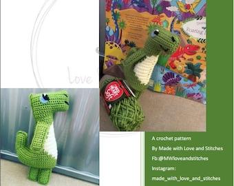 Dino the Dinosaur Crochet Pattern Amigurumi