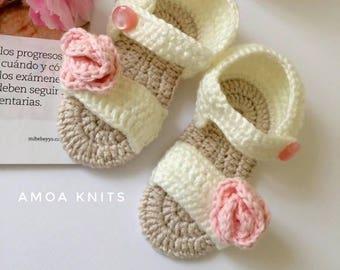 Baby Sandals, Baby Girl Sandals, Crochet Sandals