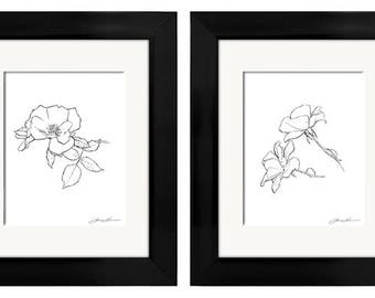 Flowers Rose Group (3 Designs) Printable Wall Art
