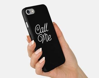 Black Phone Case, Typographic Phone Case, iPhone 8 Case, iPhone 7 Case, Typographic Case, Slim Case, Tough Case, Slogan Case, iPhone X case