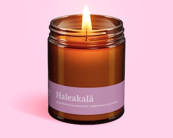 Haleakalā National Park (Grapefruit & Mangosteen) Handmade Soy Candle by Elsewhere Candle Co. The National Park Collection