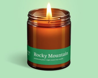 Rocky Mountain National Park (Ponderosa Pine) Handmade Soy Candle by Elsewhere Candle Co. The National Park Collection