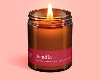 Acadia National Park (Sweet Bunchberry) Handmade Soy Candle by Elsewhere Candle Co. The National Park Collection