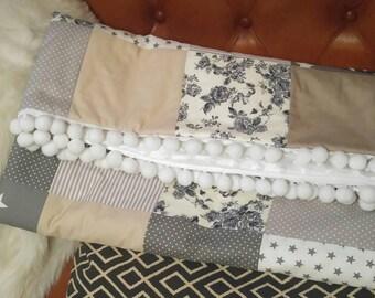 Patchwork Detail Baby Blanket