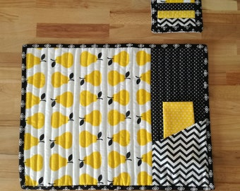 Set of 2 American placemats with napkins and coasters-American placemats-Two American Placemats set